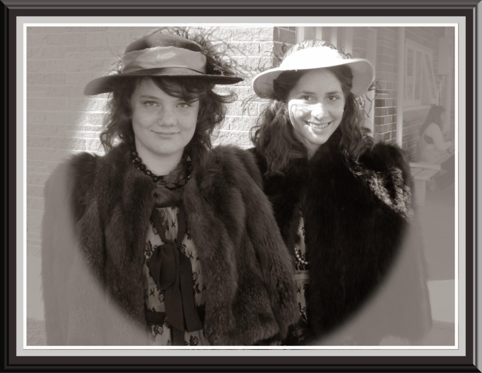 Just a couple of old fashioned girlsphotoshop