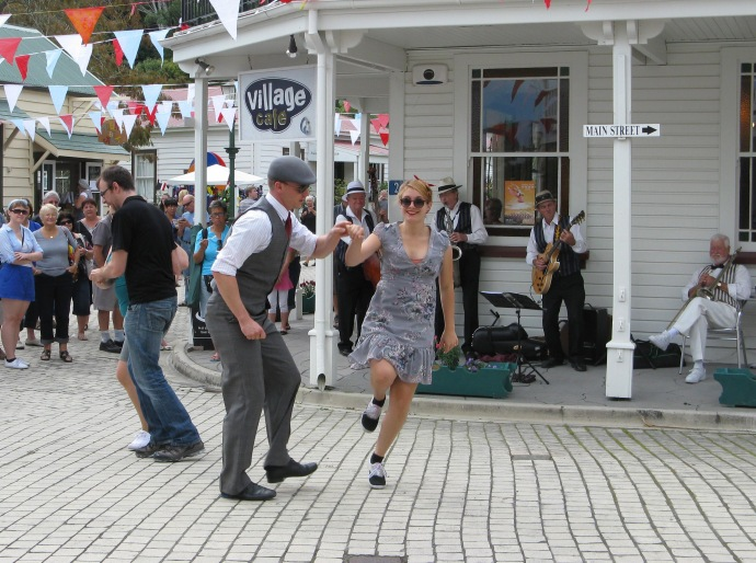Jiving on the streets at the Tauranga jazz festival